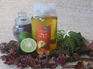BODY OIL DARI LEMON DAN GREEN TEA ANTI OKSIDAN TUBUH